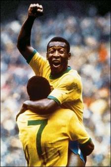 Pelé Joueur football brésil