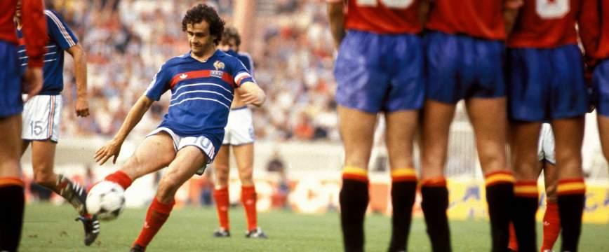 Michel Platini 1984 France Espagne